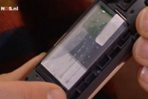 A mobile phone with the miracle nano foil
