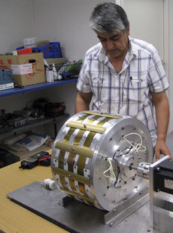 Yildiz with one of his motors