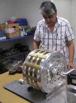 Yildiz with one of his motors