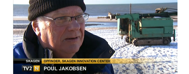 Danish inventor Poul Jakobsen (screenshot TV N2 report)