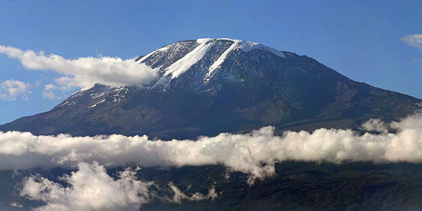 Mt. Kilimanjaro, view from Moshi ,Tanzania (via Wikimedia Commons)